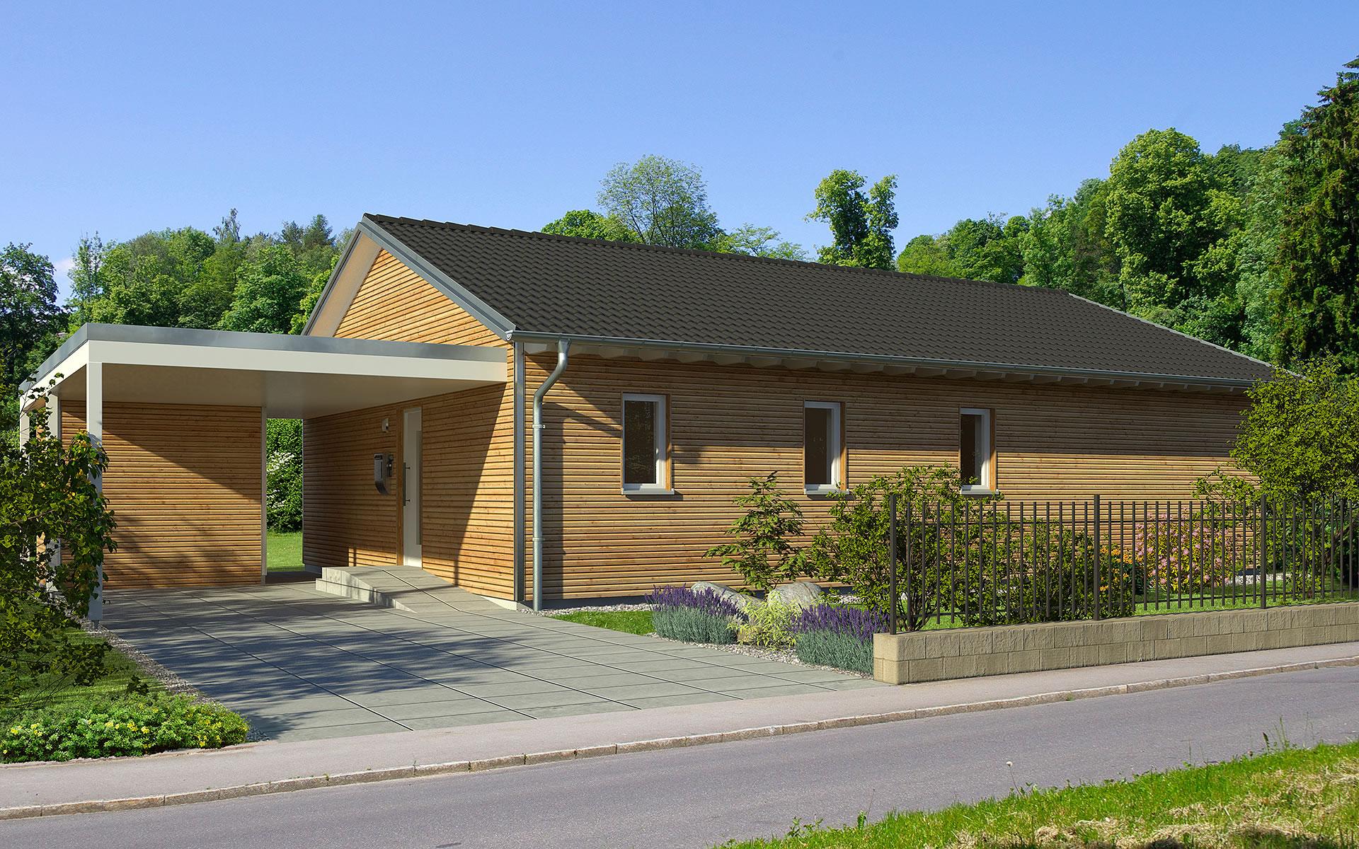 PlanMit Architektur Satteldach-Bungalow von Bau-Fritz GmbH & Co. KG, seit 1896