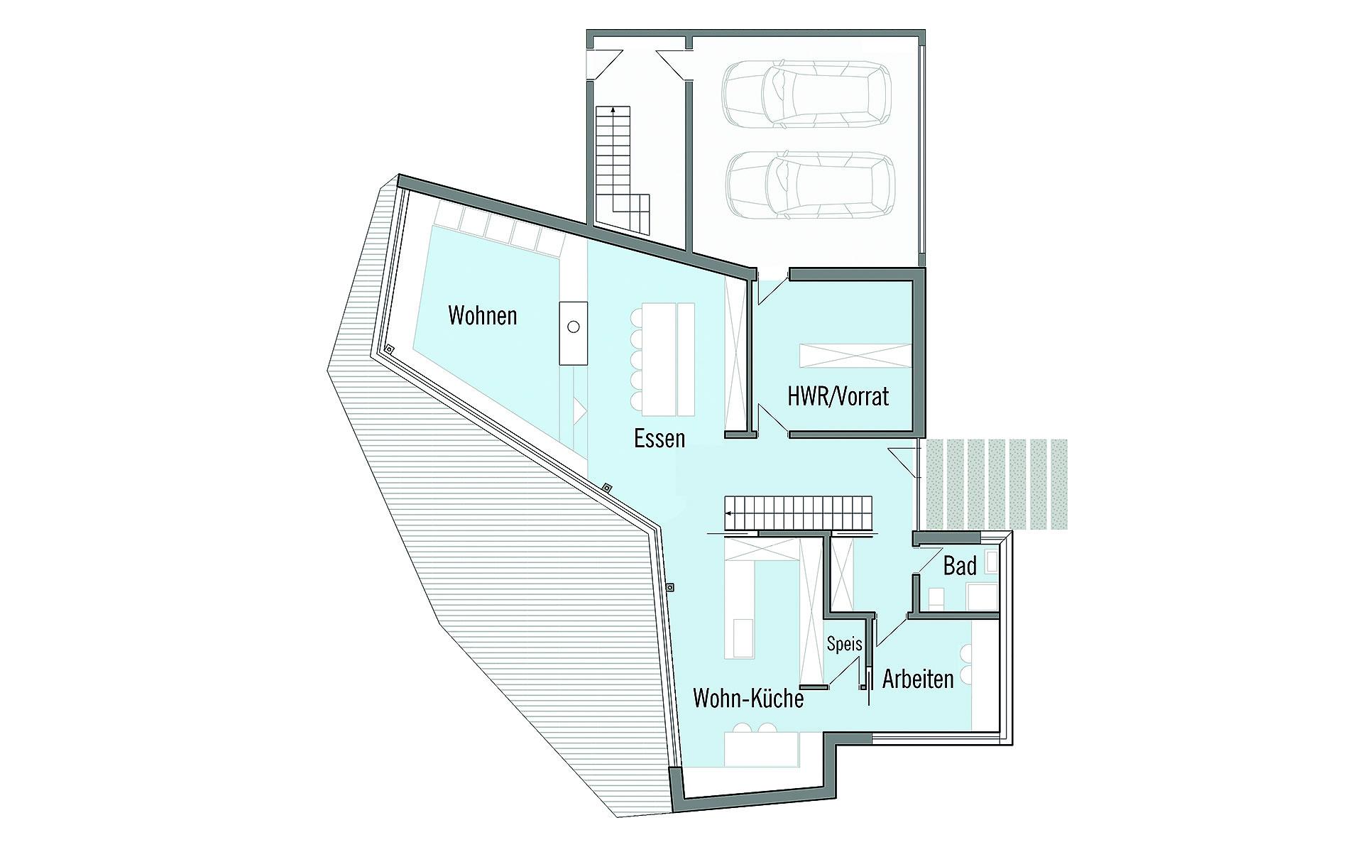 Erdgeschoss Bullinger von Bau-Fritz GmbH & Co. KG, seit 1896