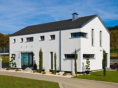 Fertigteilhaus modern satteldach  Schlüsselfertig / Schlüsselfertige Häuser,-Dippold mit 153,29 qm ...