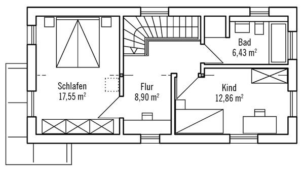 Obergeschoss Hochhinaus S1 von Bau-Fritz GmbH & Co. KG, seit 1896