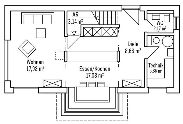 Erdgeschoss Hochhinaus S1 von Bau-Fritz GmbH & Co. KG, seit 1896