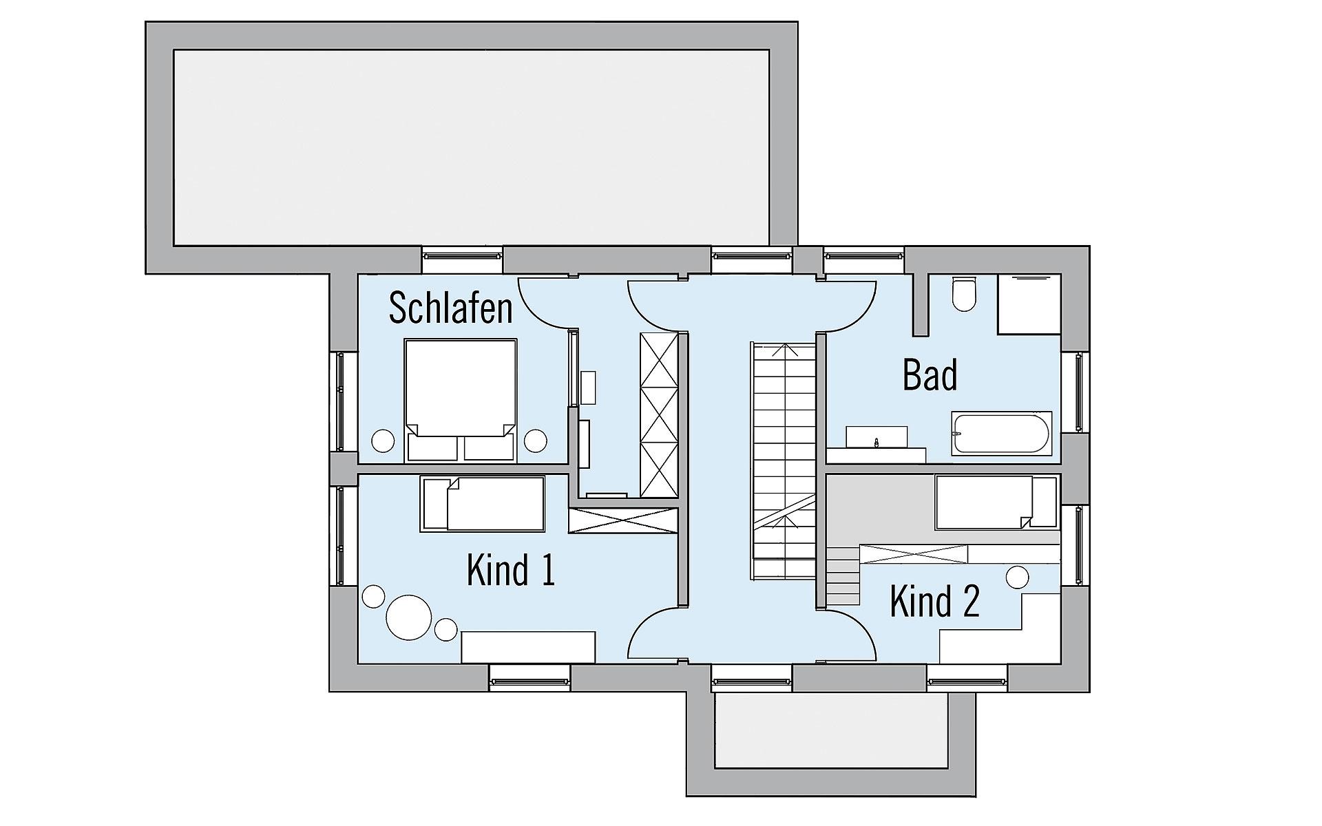 Obergeschoss NaturDesign von Bau-Fritz GmbH & Co. KG, seit 1896