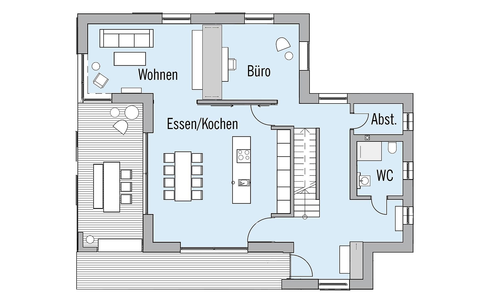 Erdgeschoss NaturDesign von Bau-Fritz GmbH & Co. KG, seit 1896
