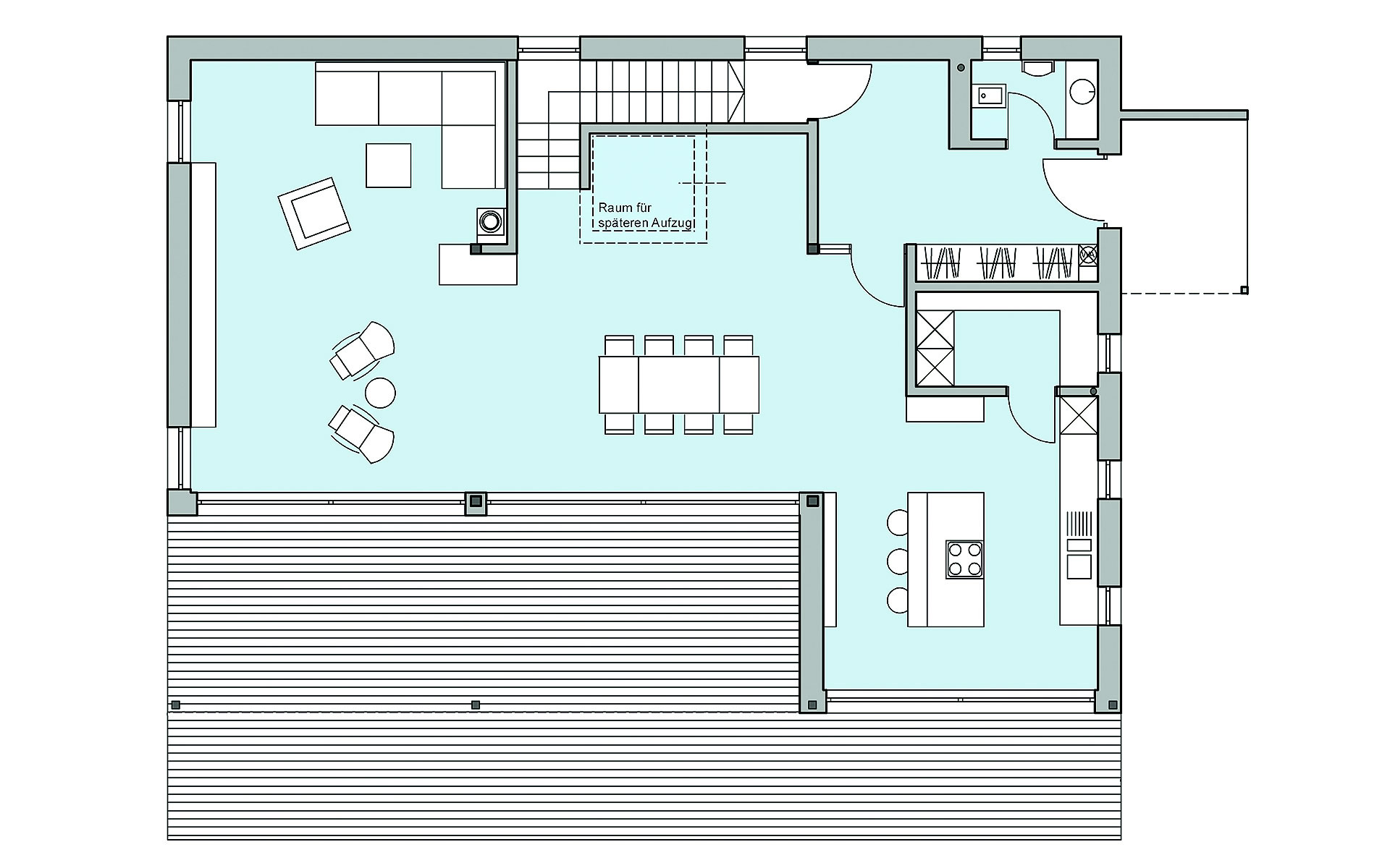 Erdgeschoss Riederle von Bau-Fritz GmbH & Co. KG, seit 1896