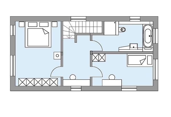 Obergeschoss S1 - Das lebendige Haus von Bau-Fritz GmbH & Co. KG, seit 1896