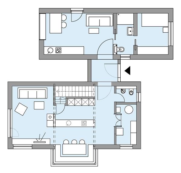 Erdgeschoss S1 - Das lebendige Haus von Bau-Fritz GmbH & Co. KG, seit 1896