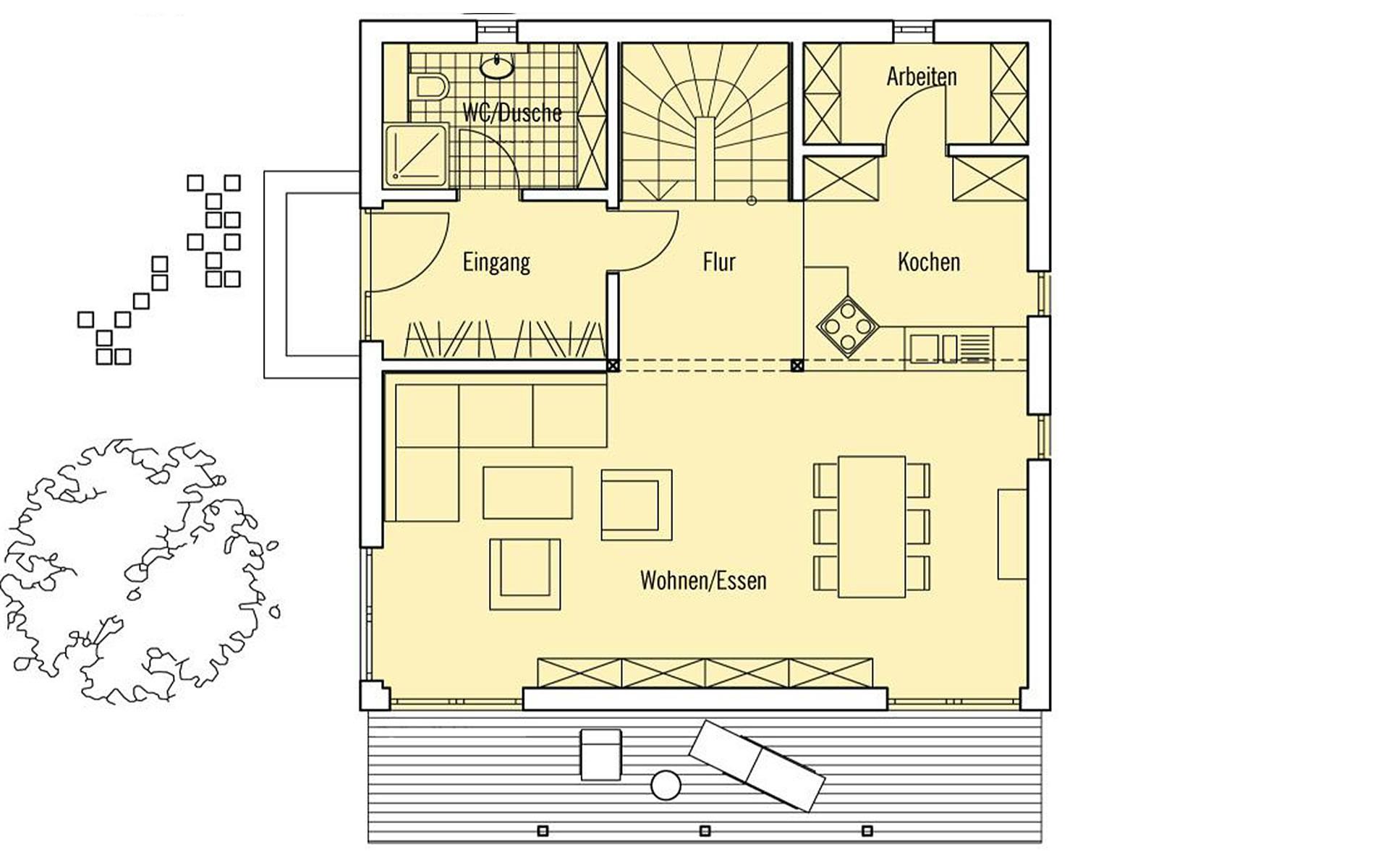 Erdgeschoss PlanMit: Stadthaus von Bau-Fritz GmbH & Co. KG, seit 1896