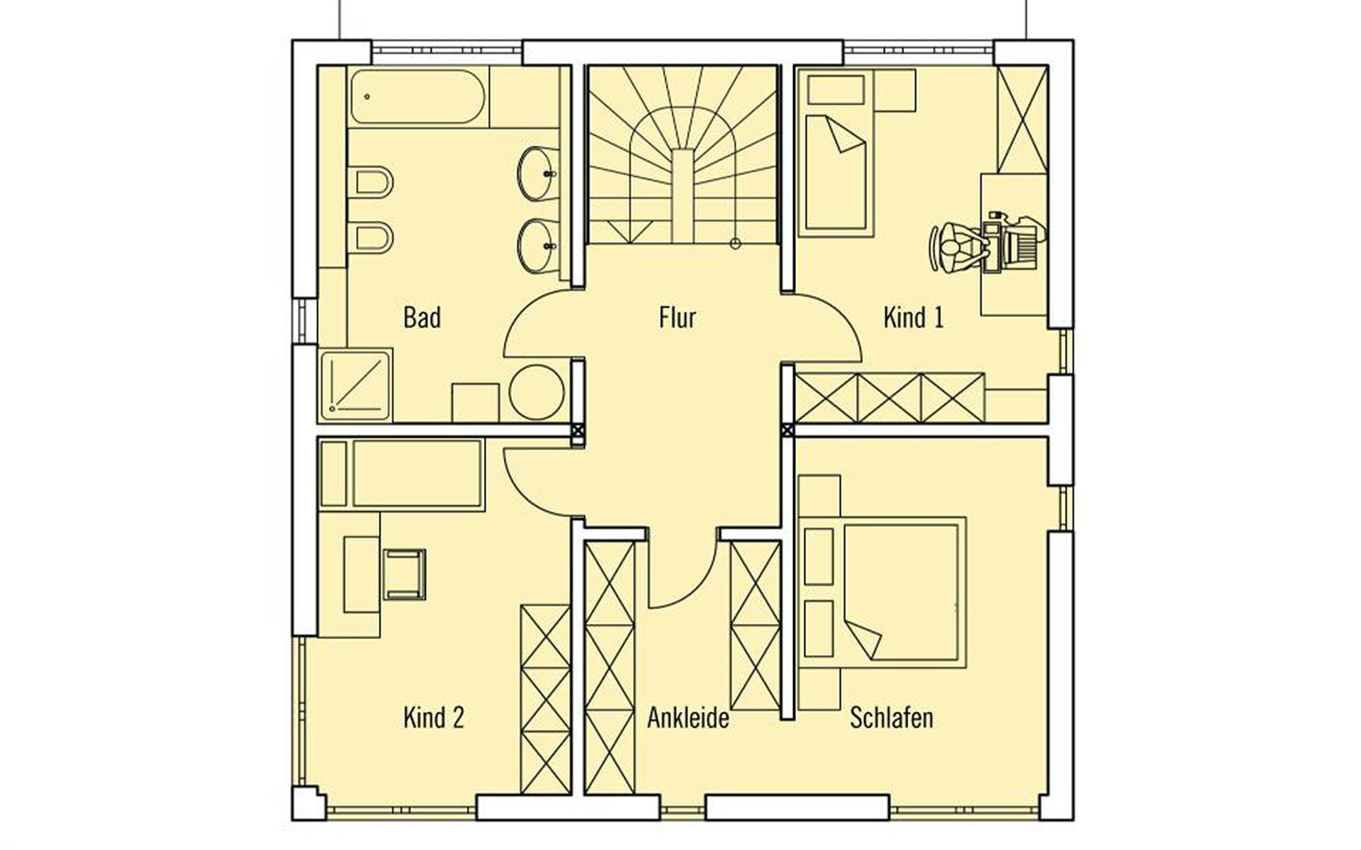 Obergeschoss PlanMit: Stadthaus von Bau-Fritz GmbH & Co. KG, seit 1896