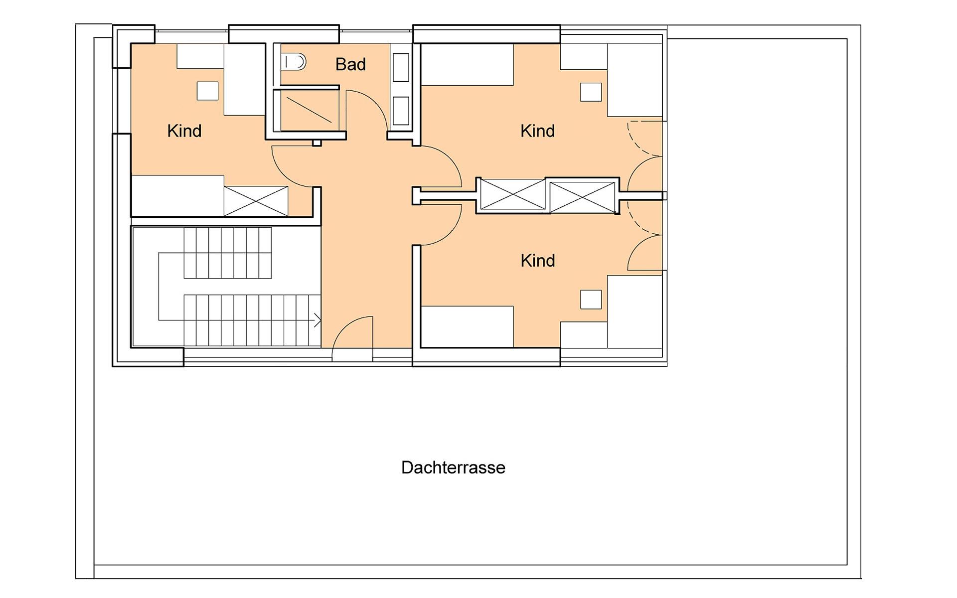 Obergeschoss Weitblick von Bau-Fritz GmbH & Co. KG, seit 1896