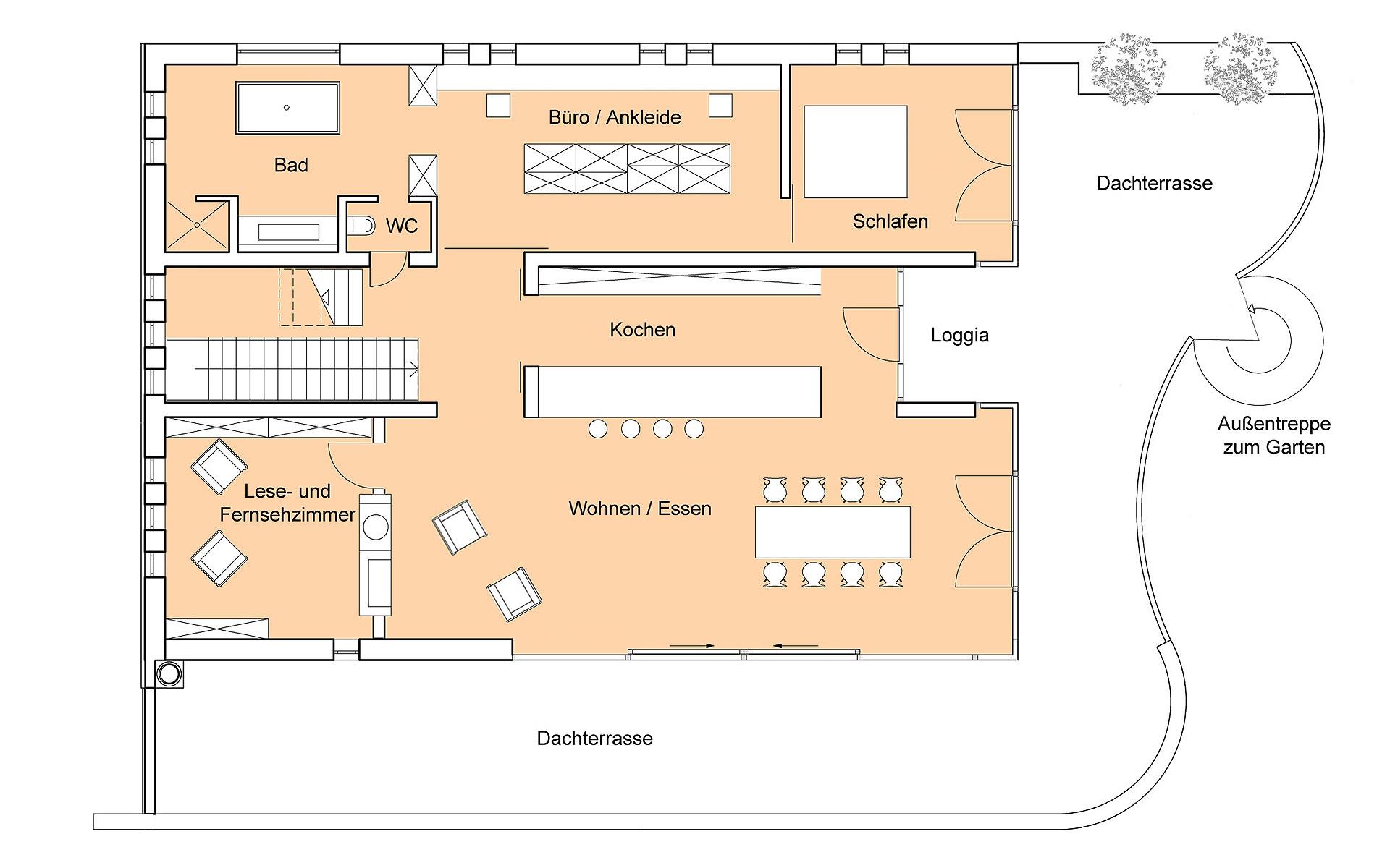 Erdgeschoss Weitblick von Bau-Fritz GmbH & Co. KG, seit 1896