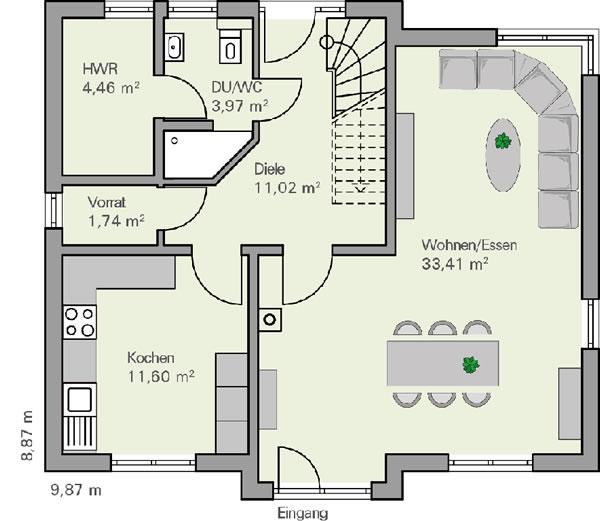 Erdgeschoss Carl von BAUMEISTER-HAUS Kooperation e.V.