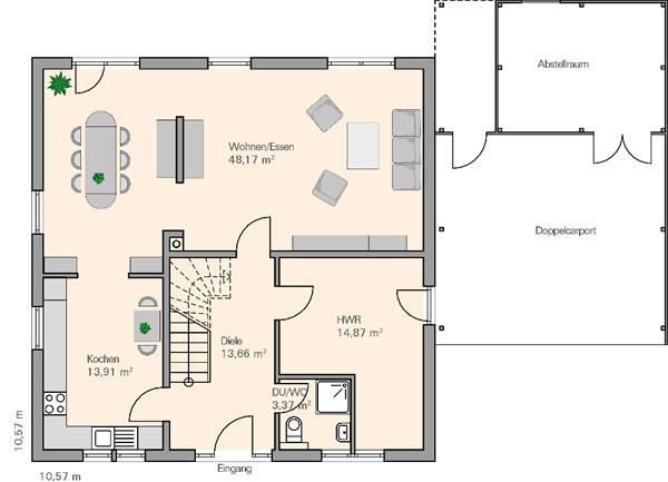 Erdgeschoss Ihle von BAUMEISTER-HAUS Kooperation e.V.