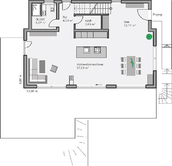 Erdgeschoss Philipp von BAUMEISTER-HAUS Kooperation e.V.