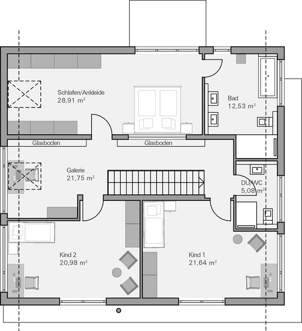 Dachgeschoss Quandt von BAUMEISTER-HAUS Kooperation e.V.