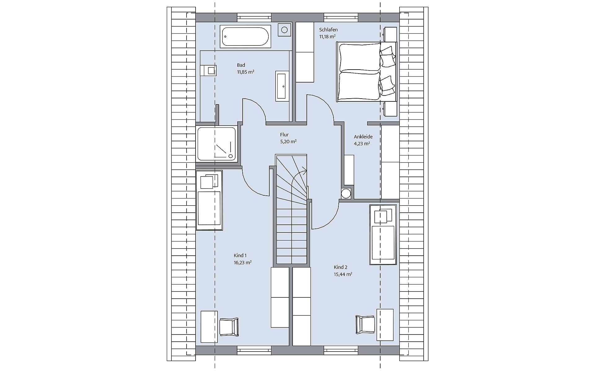 Dachgeschoss Querfeld von BAUMEISTER-HAUS Kooperation e.V.