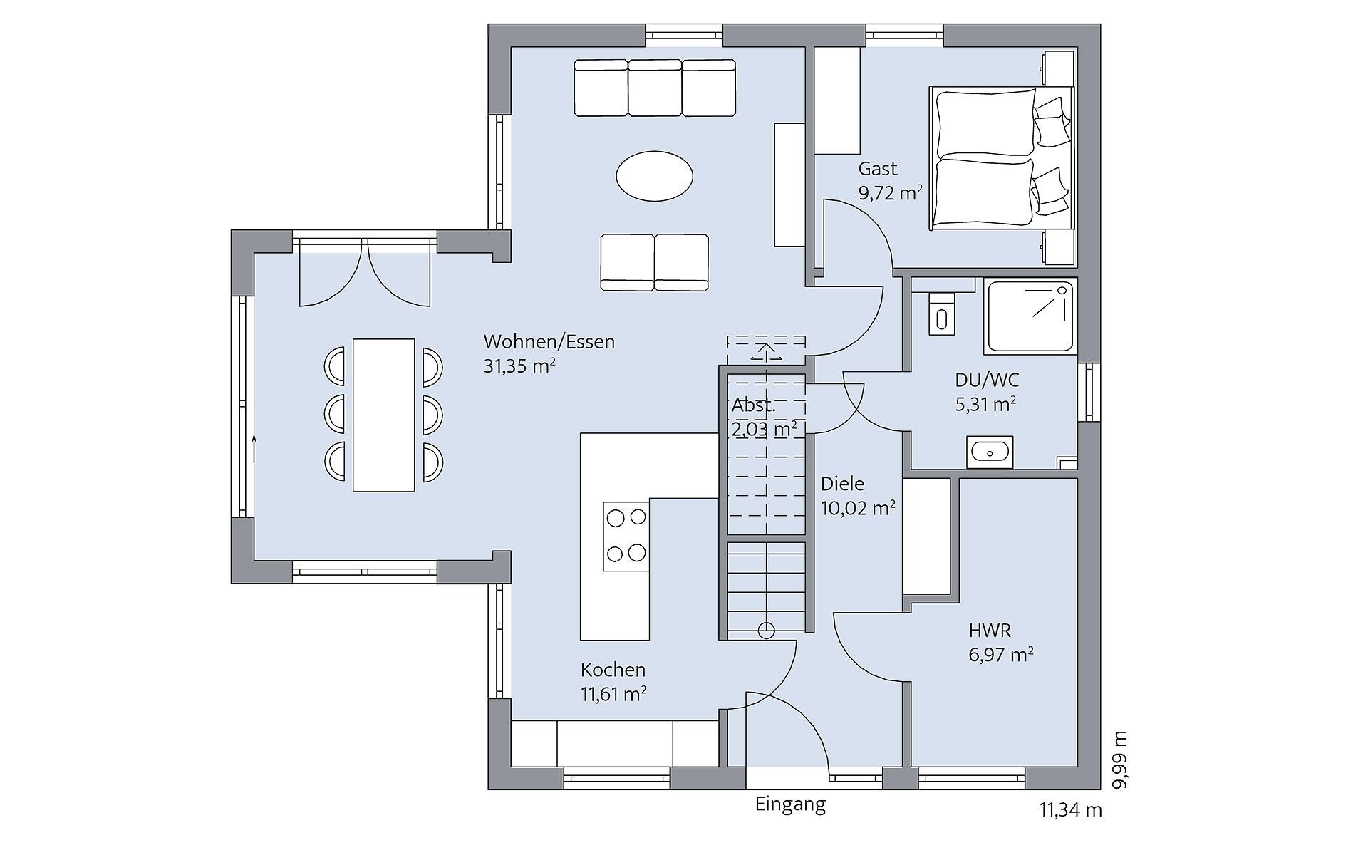 Erdgeschoss Quistorp von BAUMEISTER-HAUS Kooperation e.V.