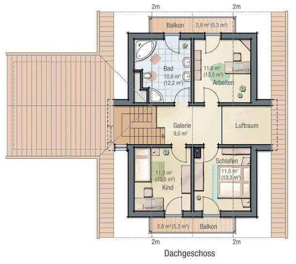 Dachgeschoss ASTER von BAVARIA Wohn- und Zweckbau GmbH