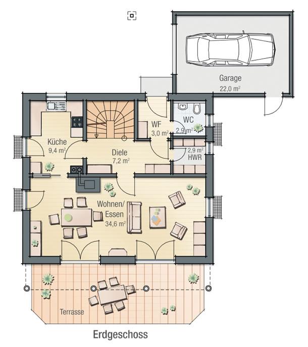 Erdgeschoss BEGONIE von BAVARIA Wohn- und Zweckbau GmbH