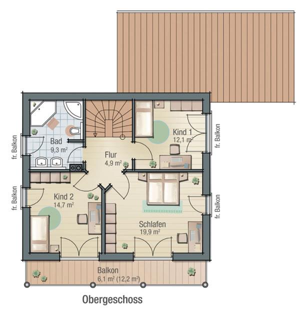 Obergeschoss BEGONIE von BAVARIA Wohn- und Zweckbau GmbH