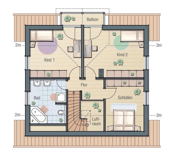 Dachgeschoss DAHLIE 2 von BAVARIA Wohn- und Zweckbau GmbH