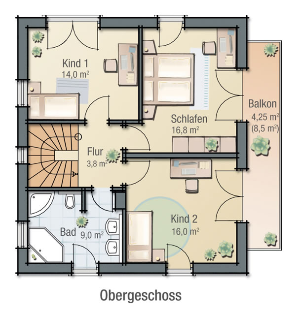Dachgeschoss IRIS von BAVARIA Wohn- und Zweckbau GmbH