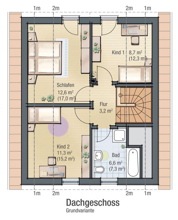 Dachgeschoss KROKUS 1 von BAVARIA Wohn- und Zweckbau GmbH