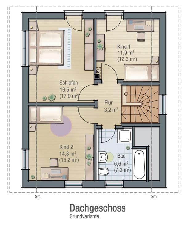 Dachgeschoss KROKUS 2 von BAVARIA Wohn- und Zweckbau GmbH