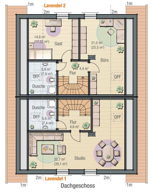Dachgeschoss LAVENDEL 1 von BAVARIA Wohn- und Zweckbau GmbH
