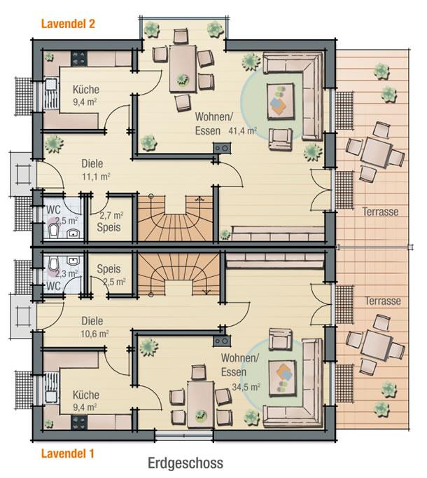 Erdgeschoss LAVENDEL 2 von BAVARIA Wohn- und Zweckbau GmbH