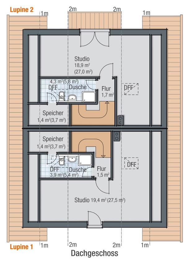 Dachgeschoss LUPINE 2 von BAVARIA Wohn- und Zweckbau GmbH