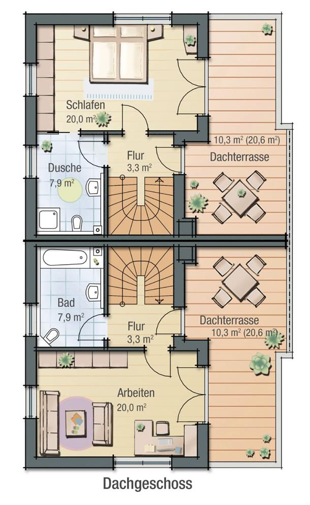 Dachgeschoss MAGNOLIE von BAVARIA Wohn- und Zweckbau GmbH