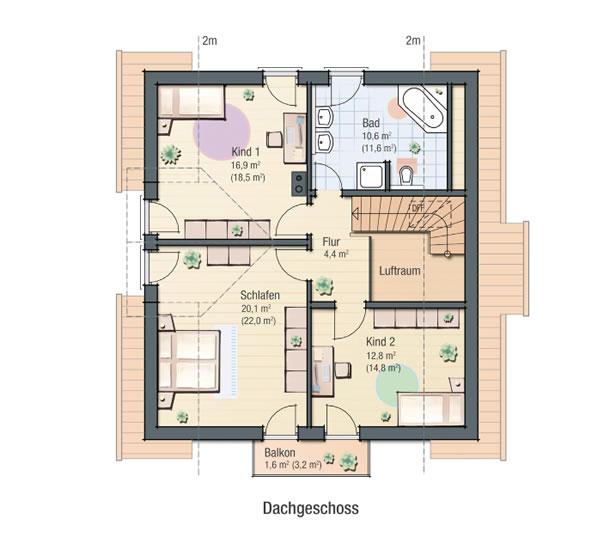 Dachgeschoss TULPE von BAVARIA Wohn- und Zweckbau GmbH
