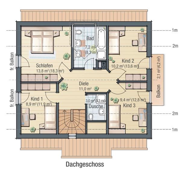 Dachgeschoss VEILCHEN von BAVARIA Wohn- und Zweckbau GmbH