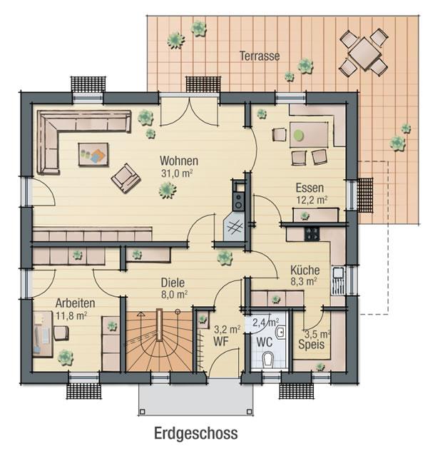 Erdgeschoss VEILCHEN von BAVARIA Wohn- und Zweckbau GmbH