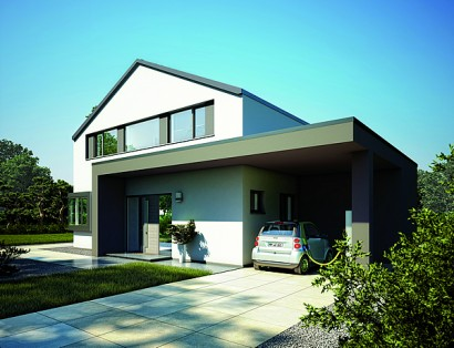 Neues high tech musterhaus in design architektur e power for Musterhaus modern