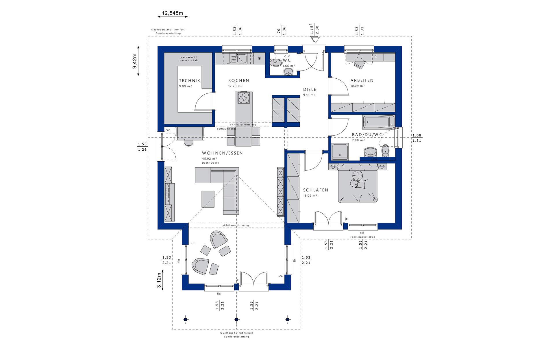 Erdgeschoss AMBIENCE 100 V2 von Bien-Zenker GmbH