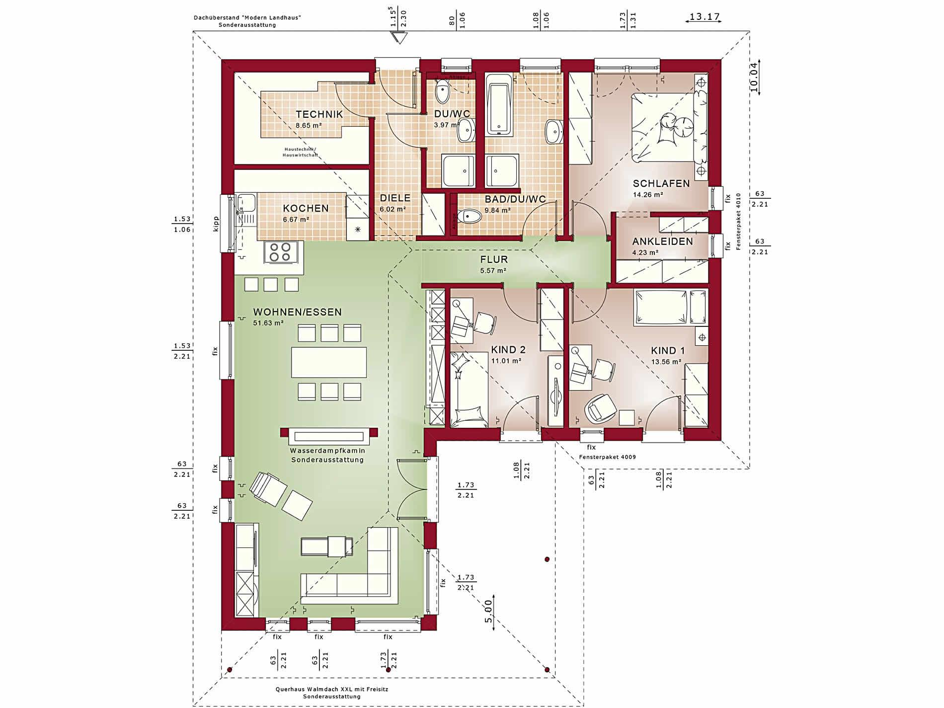 Erdgeschoss Ambience 110 V3 von Bien-Zenker GmbH