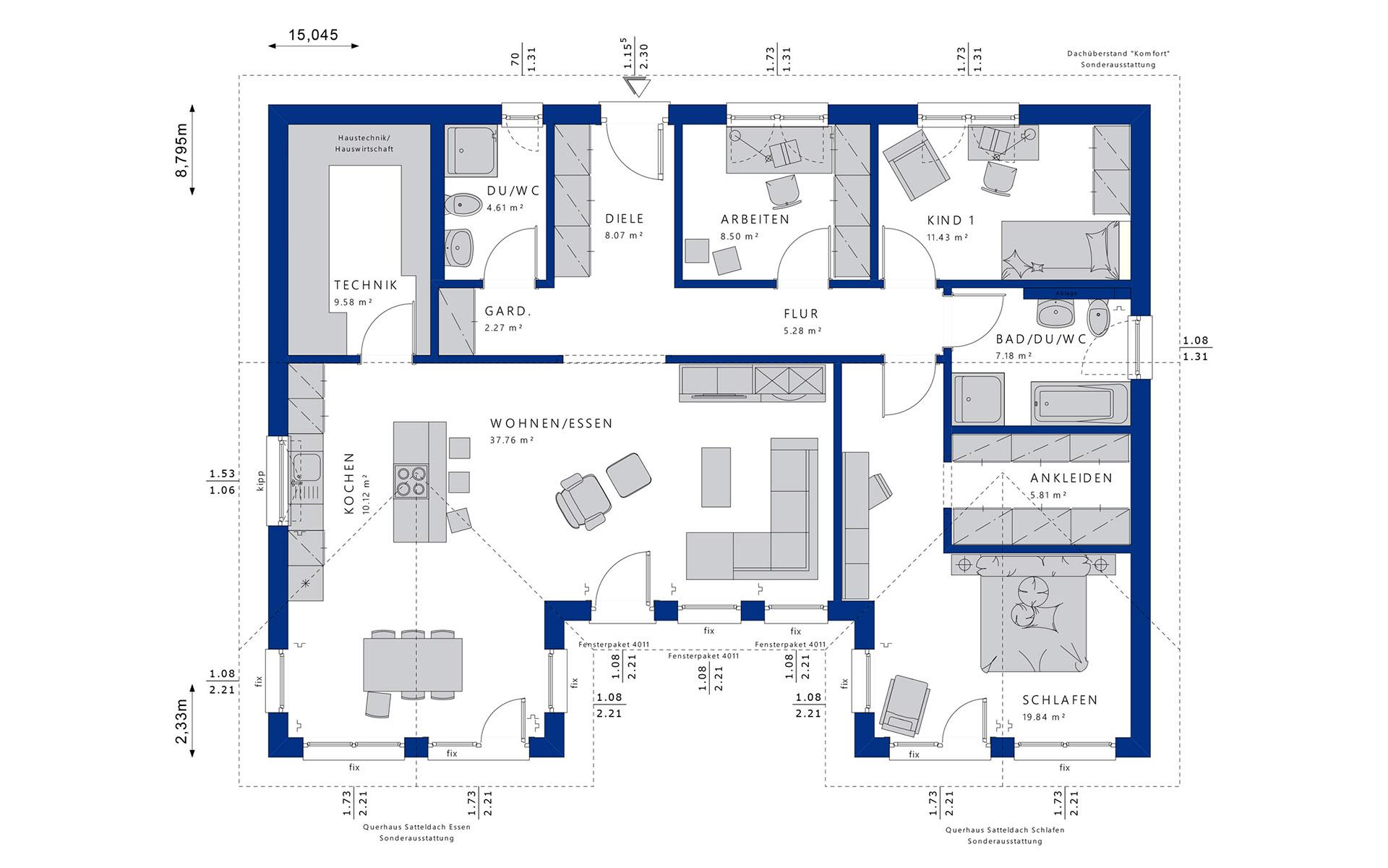 Erdgeschoss Ambience 111 V2 von Bien-Zenker GmbH