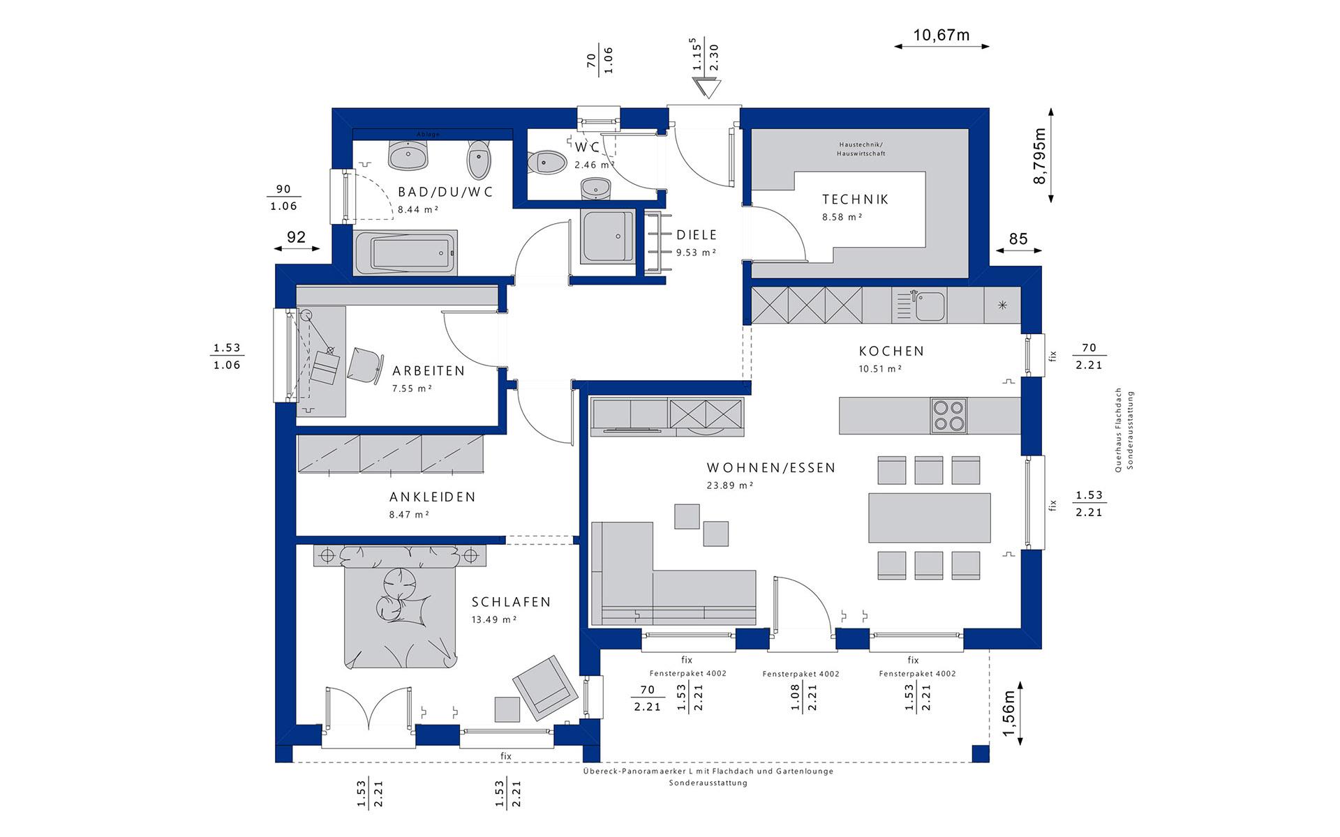 Erdgeschoss Ambience 77 V4 von Bien-Zenker GmbH