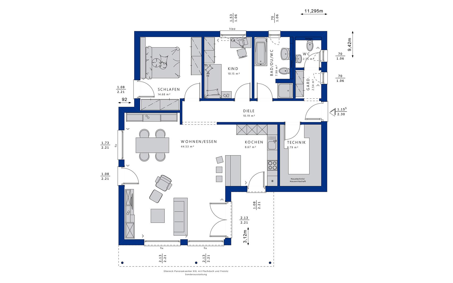 Erdgeschoss AMBIENCE 88 V4 von Bien-Zenker GmbH
