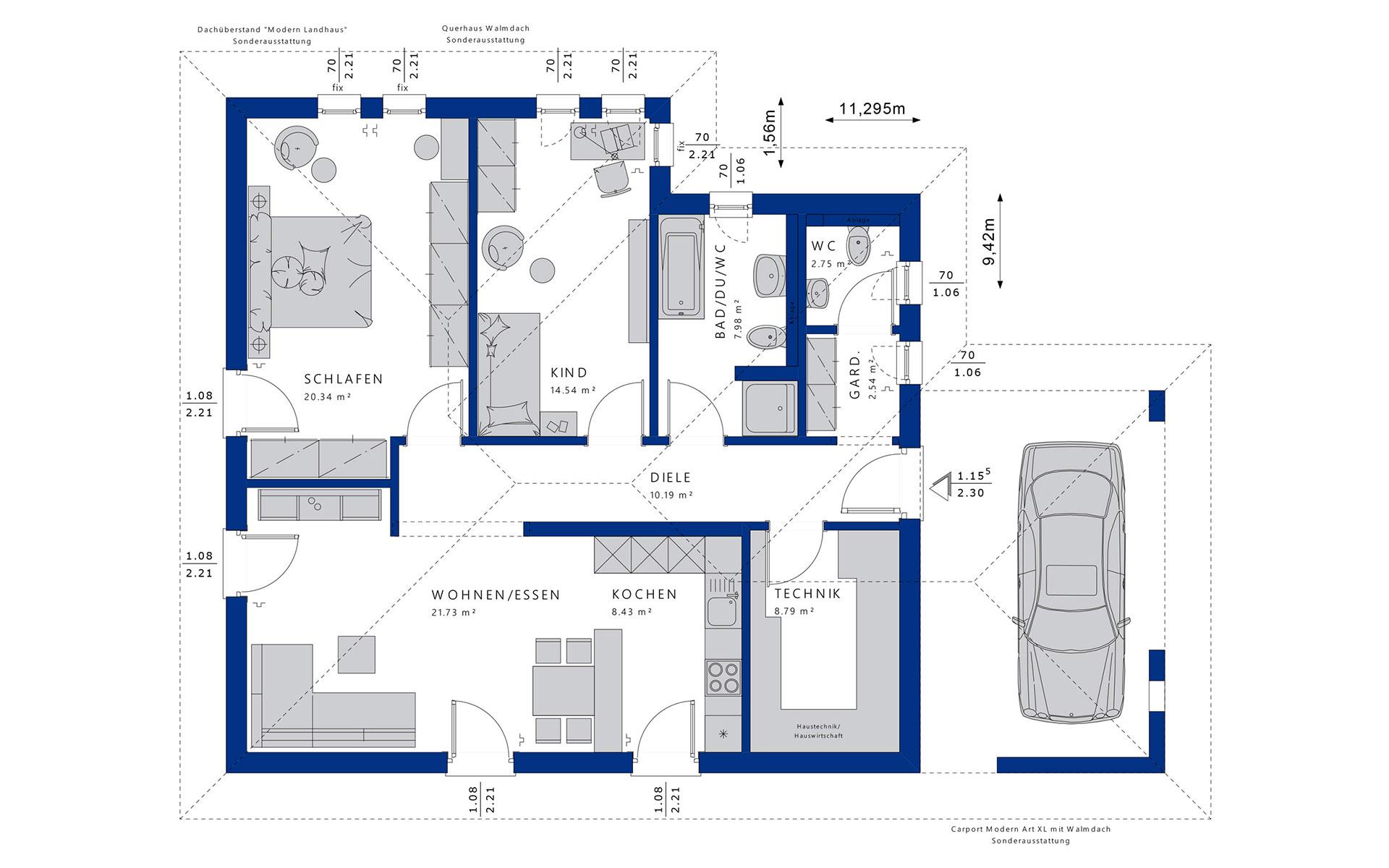 Erdgeschoss AMBIENCE 88 V3 von Bien-Zenker GmbH