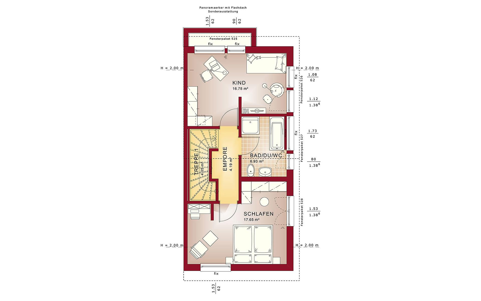 Dachgeschoss CELEBRATION 100 V2 von Bien-Zenker GmbH