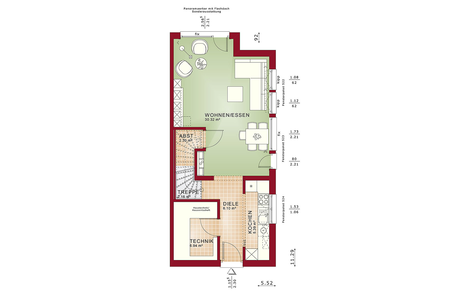 Erdgeschoss CELEBRATION 100 V2 von Bien-Zenker GmbH