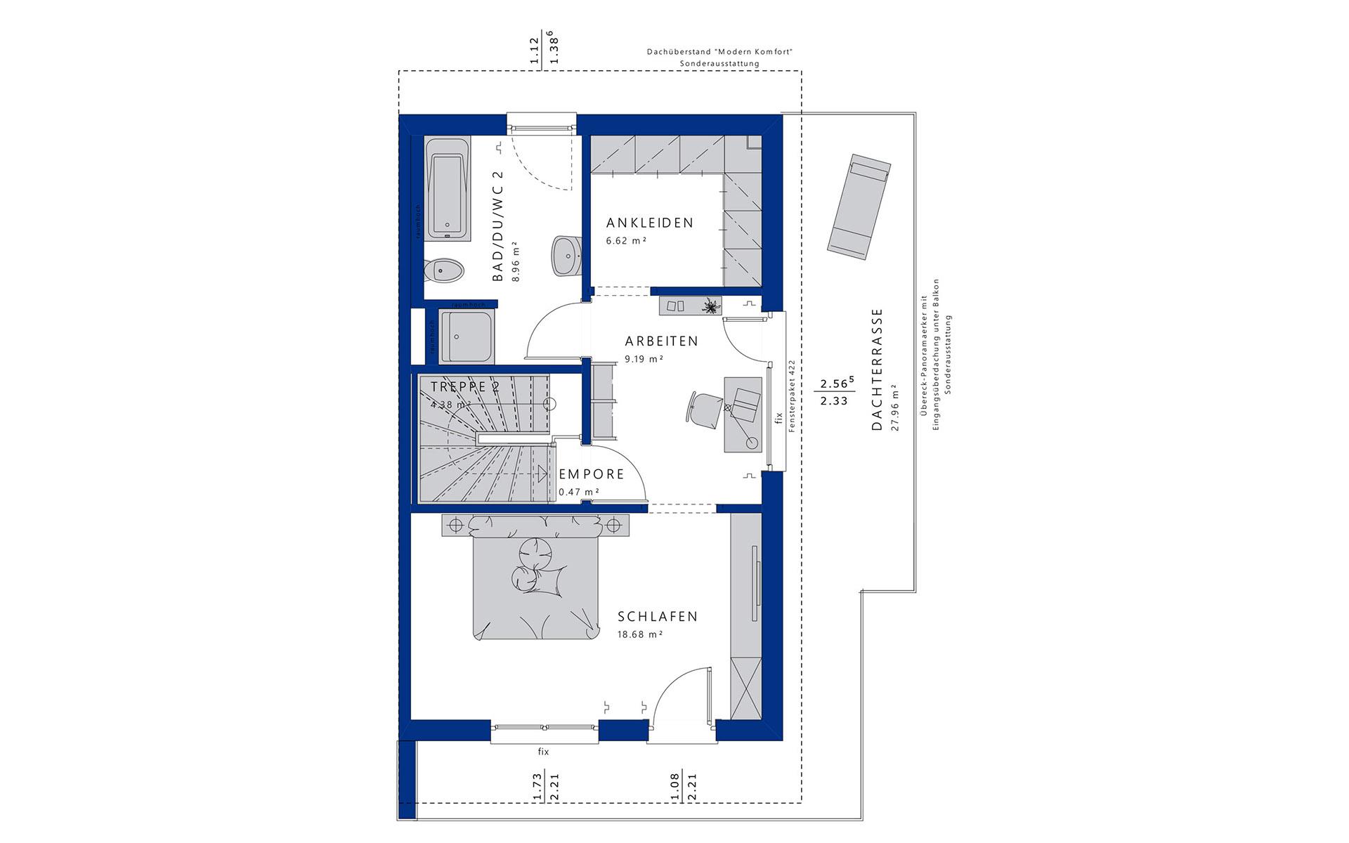 Dachgeschoss CELEBRATION 139 V5 XL von Bien-Zenker GmbH