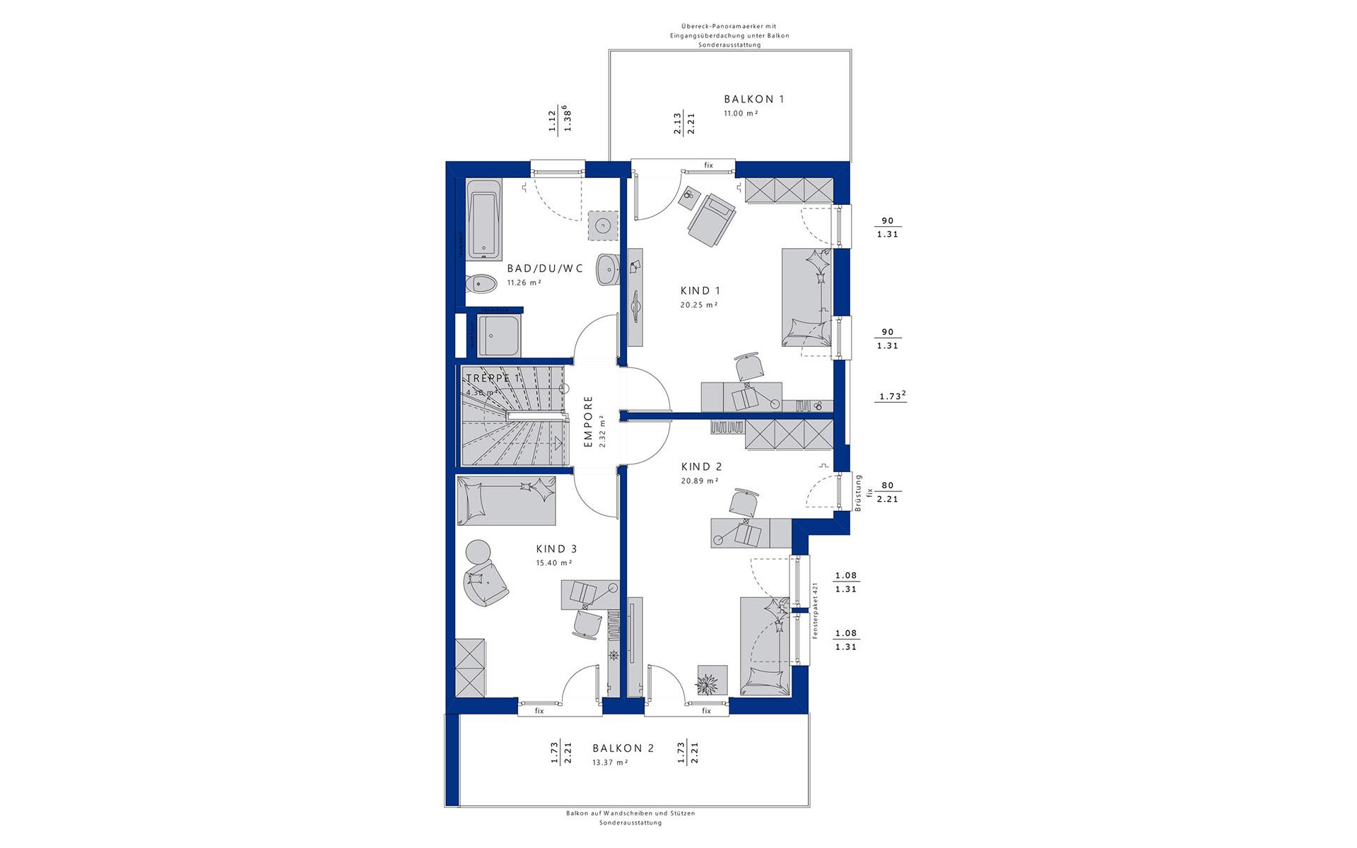 Obergeschoss CELEBRATION 139 V5 XL von Bien-Zenker GmbH