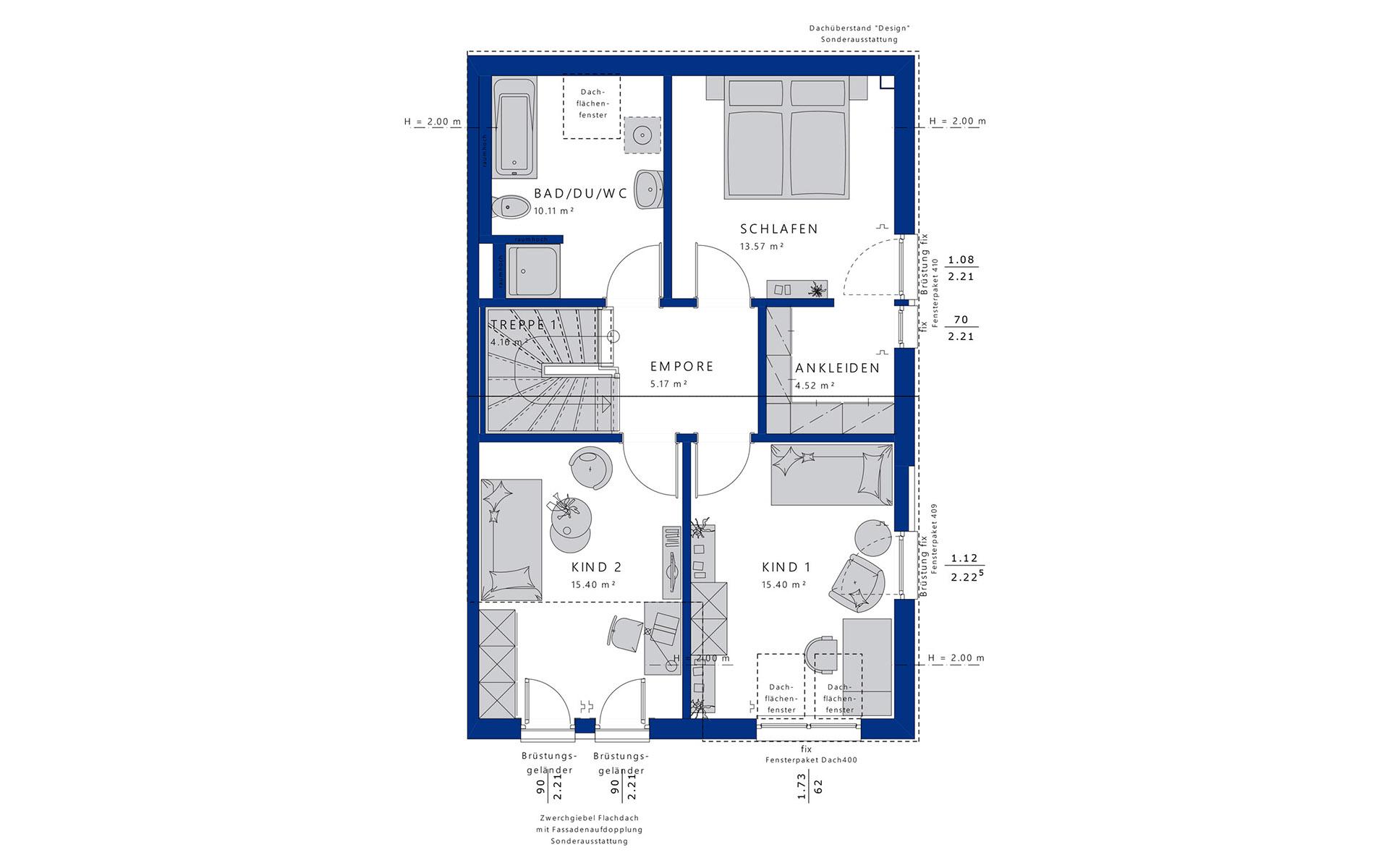 Dachgeschoss CELEBRATION 139 V2 L von Bien-Zenker GmbH