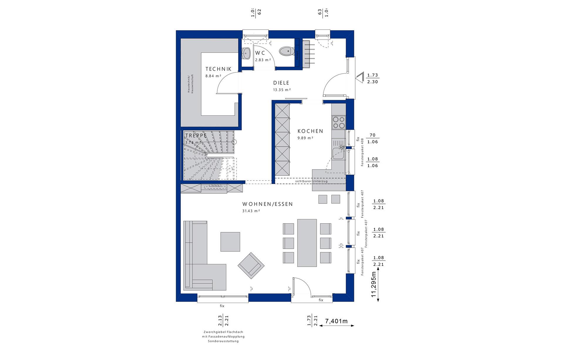Erdgeschoss CELEBRATION 139 V2 L von Bien-Zenker GmbH