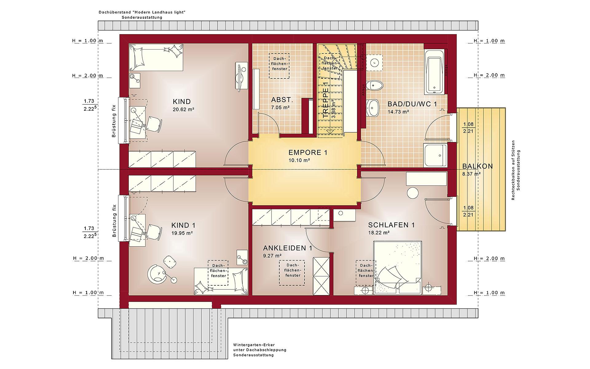 Dachgeschoss CELEBRATION 207 V2 von Bien-Zenker GmbH