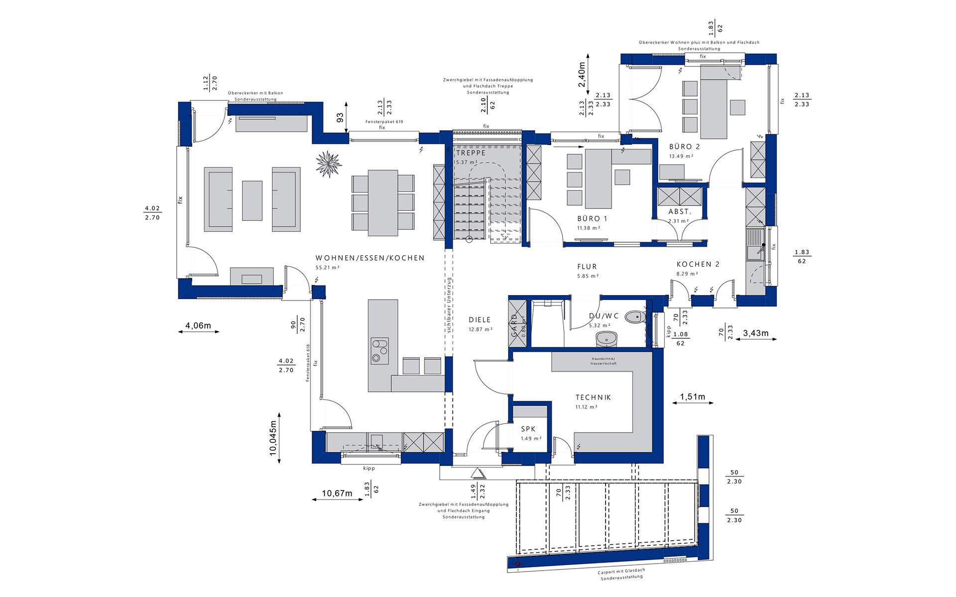Erdgeschoss Concept-M 154 von Bien-Zenker GmbH