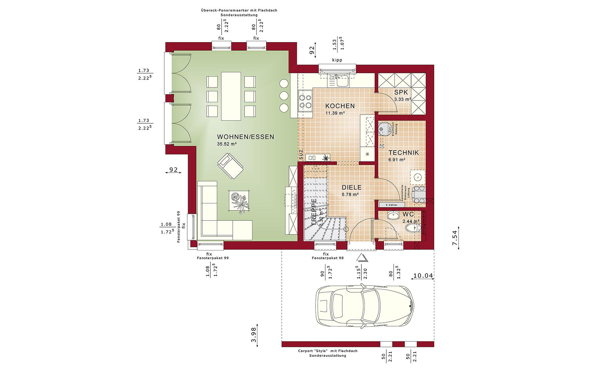 Erdgeschoss EDITION 3 V3 von Bien-Zenker GmbH